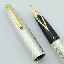 Sheaffer Imperial 834 Fountain Pen - Sterling Marquetry, Fine 14k Nib (NOS)