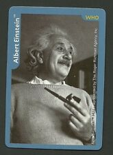 Albert Einstein theory of relativity Collector Photo Game Card  quantum theory