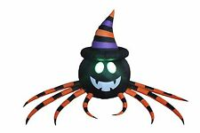 8 FOOT Halloween Inflatable Spider LED Lights Blowup Decor Yard Party Decoration