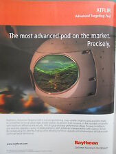 7/2006 PUB RAYTHEON ATFLIR ADVANCED TARGETING POD FLIR DEFENSE ORIGINAL AD