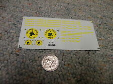 Herald King decals HO Thorn Creek and Shamrock Mountain yellow   XX292