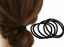 50pcs Women Elastic Hair Tie Band Rope Ring Rubber Ponytail Holder Nylon Black