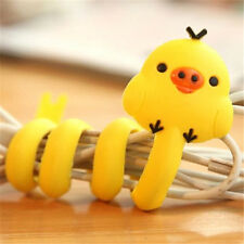 FD2396 Cartoon Earphone Headphone Cable Cord Organize Wrap Wind ~Chicken~ 1pc A
