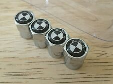 BMW Logo Air Valve Dust Caps Car Wheel Tyre Caps  4 x pcs -  Black White Logo
