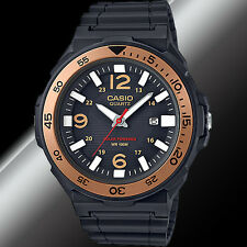 Casio MRW-S310H-9BV Mens Tough Solar Divers Watch Gold 100M WR New Resin Analog