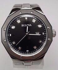 """Bulova Men's Marine Star Diamond Watch 98D103 Fits a 7"""" Wrist"""
