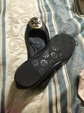 Tory Burch Brown Flat Shoes Size 7.5 EUC