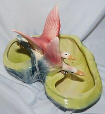 Vintage HTF McCoy 1950's Flying Duck Geese Planter
