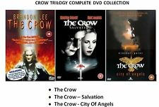 CROW TRILOGY COMPLETE PART 1 2 3 THE CROW /SALVATION /CITY OF ANGELS NEW R2 DVD