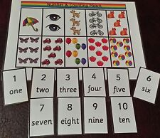 Matching Game - Counting & Number- number recogition- first counting EYFS SEN