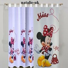 Disney Tab Top Voile Net Curtain -MINNIE MOUSE IN RED- 75cm width x 157cm drop
