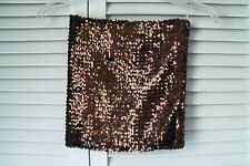 Vintage   Brown color Elastic Strapless Sequined Top-  - Size M