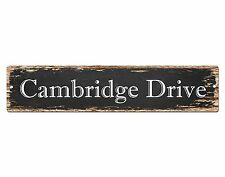 SP0628 CAMBRIDGE DRIVE Street Sign Home Cafe Store Shop Bar Chic Decor Gift