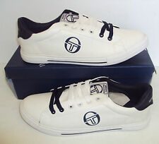Sergio Tacchini Men's White & Navy Casual Classic Shoes Trainers New Size UK 10