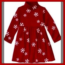 NWT girls 4 gymboree Red PENGUIN CHALET snowflake Cotton Knit DRESS turtleneck