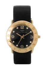 NEW Marc By Marc Jacobs Women's Mbm1154 Amy Gold Black Stainless Steel Watch