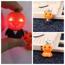 1Pcs Lively Pumpkin Small People LED Luminous Handbag Keychain Ring Pendant