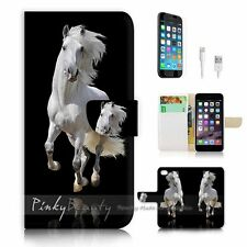 iPhone 6 (4.7') Flip Wallet Case Cover! P0824 Horse