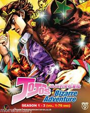 DVD JoJo's Bizarre Adventure Box Set Complete Tv Season 1 + 2 + 3 ( 1-76 end )