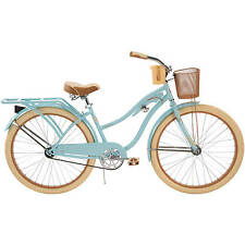 """NEW 26"""" Huffy Nel Lusso vintage Women's Cruiser Bike Blue Beach Bicycle"""