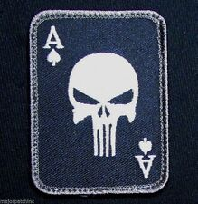 PUNISHER ACE OF SPADES DEATH CARD USA ARMY TACTICAL SWAT OPS VELCRO MORALE PATCH