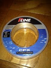 P-Line Big Game 100 lb 30m 100% Fluorocarbon CFX Leader Tuna Marlin Saltwater