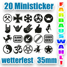 Ersatz Aufkleber für AU Plaketten Spiegel Scheibe Sticker Shocker Eisernes Kreuz
