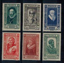 timbres de France n° 587/592 neufs** année 1943