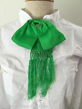 Mexican Charro Moño Bow Tie Bright Green Verde Limon Handcrafted