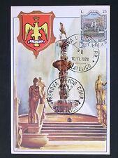 Italia MK 1973 POZZO FONTANA PALERMO maximum scheda MAXIMUM CARD MC cm d1740