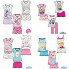 Girls Pyjamas Short Sleeve T-Shirt Shorts Set New Official 2016 Age 2-12 Years