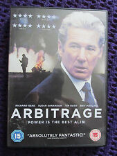 Arbitrage (DVD, 2013) disc perfect Excellent financial thriller