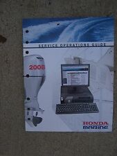 2008 Honda Marine Outboard Motor Dealer Service Operations Guide Manual Boat  U