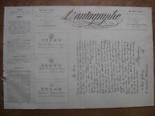 1864 L'AUTOGRAPHE n°12 reproduction lettres autographes dessins auteurs célèbres
