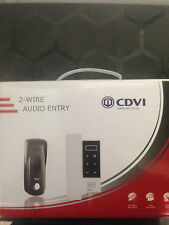 CDVI 2 WIRE SLIM LINE AUDIO INTERCOM KIT FOR ELECTRIC GATE AUTOMATION