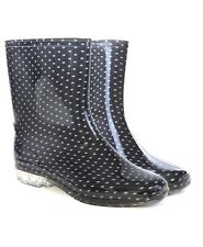WOMENS LADIES WATERPROOF WELLIES SHORT ANKLE WELLINGTON RAIN SNOW BOOTS FESTIVAL