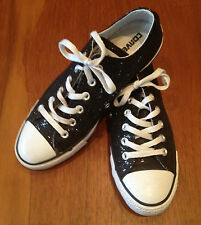 CONVERSE ~ ALL STAR Chuck Taylor Black Glitter Low Top Sneakers ~ US 10 EUR 41.5