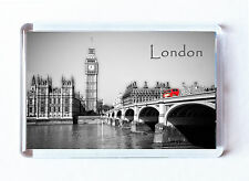 Fridge Magnet London, Westminster Bridge, Big Ben, River Thames, London Bus