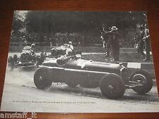 (206)* =NUVOLARI MASERATI TRA LE ALFA 1934=RITAGLIO=CLIPPING=POSTER=FOTO=