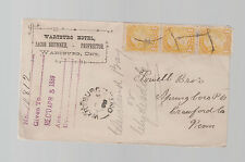 1889 Wartburg Canada Hotel Registered cover to USA