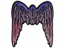 ANGEL WINGS PINK LARGE Embroidered Lady Motorcycle MC Biker Vest Patch LRG-0569