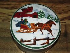 MIKASA XMAS COUNTRY SLEIGH CANDY DISH W/LID # 683
