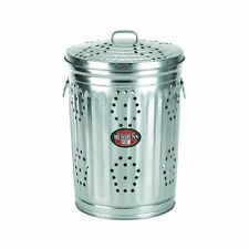 NEW BEHRENS 1211RB 20 GALLON STEEL GARBAGE TRASH REFUSE BURNING CAN LID 6462659