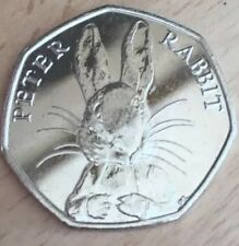 PETER RABBIT RARE 50P FITHTY NEW PENCE COIN 2016 Collector Piece UK