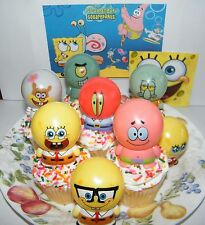 Spongebob Cake Toppers Set of 8 Patrick, Squidward, Sandy Buildable Figures