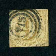 German States - Thurn & Taxis, Scott #55, Numeral of Value, Used, 1862
