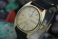 C. 1972 OMEGA Constellation Cal. 1021 Gold & Steel Diamond Dial Mens Dress Watch