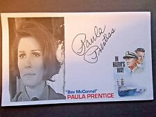 """In Harm's Way"" Paula Prentiss Autographed 3x5 Index Card"