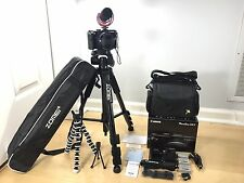 Canon PowerShot G3 X Camera w/Rode Mic, Tripods, Batteries, Bag & More (Bundled)