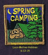 LMH PATCH Badge  SPRING CAMPING AWARD Kid's TENT Camp Sleepover Event Bear Woods